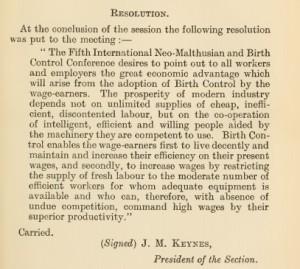 KeynesResolution1922